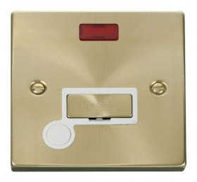 Click Deco Satin Brass Unswitched Fused Spur Neon F/O VPSB553WH