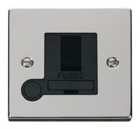 Click Deco Polished Chrome Switched Fused Spur + F/O VPCH051BK
