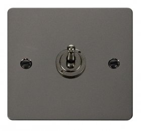 Click Define Black Nickel 1 Gang 2 Way Toggle Switch FPBN421