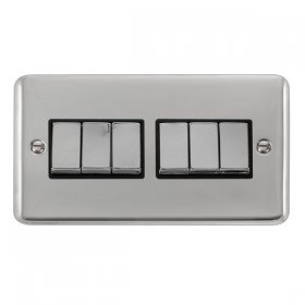 Click Deco Plus 6 Gang 2 Way Ingot Switch DPCH416BK