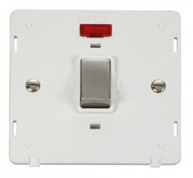 Click Definity 20A DP Switch With Neon Insert SIN723PWSS
