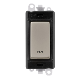 Click Grid Pro GM2018BKPN-FN DP Sw Module Black Pearl Nickel Fan