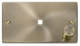 Click Deco Antique Brass Single Dimmer Plate 1000W Max VPAB185