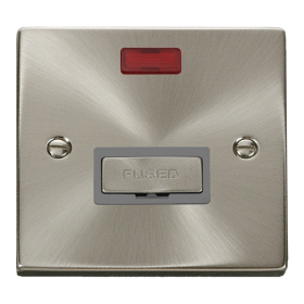 Click Deco Satin Chrome Unswitched Fused Spur + Neon VPSC753GY