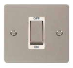 Click Define Pearl Nickel 1G 45A Double Pole Switch FPPN500WH