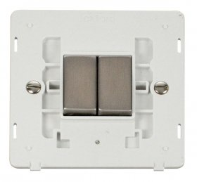 Click Definity 2 Gang 2 Way Switch Insert SIN412PWSS