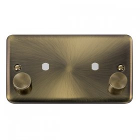 Click Deco Plus Twin Dimmer Plate 1630W Max DPAB186