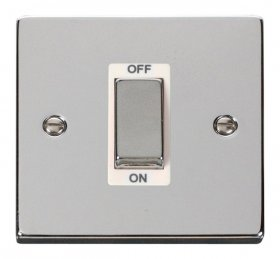 Click Deco Polished Chrome 1 Gang 45A DP Switch VPCH500WH