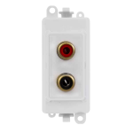 Click Grid Pro GM2490PW RCA 2 Outlet Module