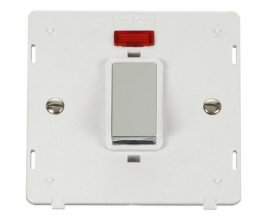 Click Definity 45A DP Switch With Neon Insert SIN501PWCH