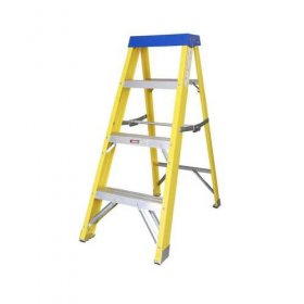 Elex Electricians Fibre Glass 4 Tread Step Ladder