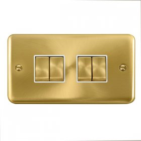 Click Deco Plus 4 Gang 2 Way Ingot Switch DPSB414WH