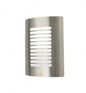 Forum Zinc Sigma S/Steel Panel Slat Wall Lantern ZN-25340-SST