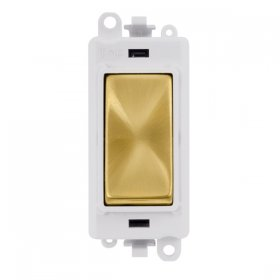 Click Grid Pro GM2001PWSB 1 Way Switch Module White Satin Brass