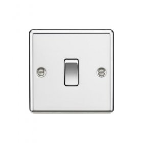 Knightsbridge Polished Chrome 20A 1G Double Pole Switch CL834PC