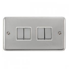Click Deco Plus 4 Gang 2 Way Ingot Switch DPCH414WH