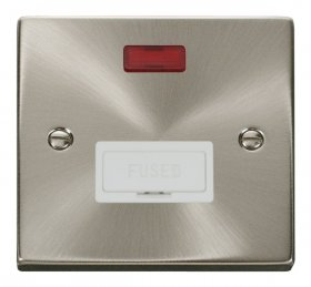Click Deco Satin Chrome Unswitched Fused Spur + Neon VPSC653WH