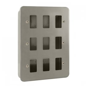 Click Metal Clad 9 Gang Grid Pro Front Plate CL20509