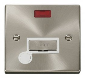Click Deco Satin Chrome Unswitched Spur Neon + F/O VPSC553WH