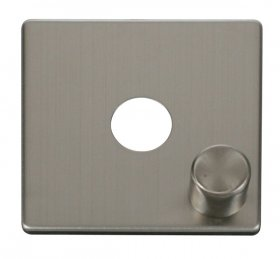 Click Definity 1 Gang Dimmer Switch Cover Plate & Knob SCP241SS