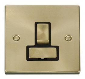 Click Deco Satin Brass Switched Fused Spur VPSB751BK