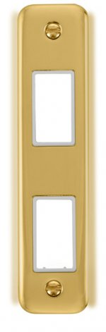Click Deco Plus Double Architrave Plate DPBR472WH