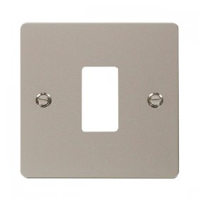Click Define Pearl Nickel 1 Gang Grid Pro Front Plate FPPN20401