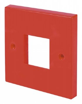 Click Red 1 Gang Single Plate Twin Aperture WA402RD