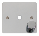 Click Define Polished Chrome 1 Gang Empty Dimmer Plate FPCH140PL