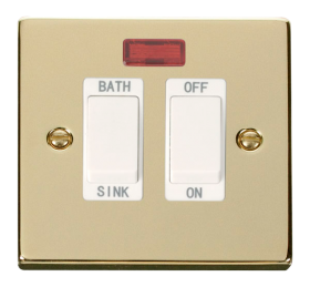 Click Deco Polished Brass 20A DP Sink/Bath Switch VPBR024WH