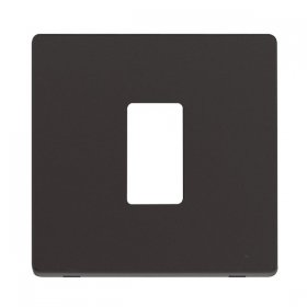 Click Definity Black 1 Gang Grid Pro Front Plate SCP20401BK