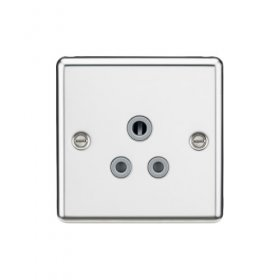 Knightsbridge Polished Chrome 5A Unswitched Round Socket CL5APC