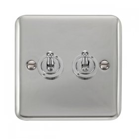 Click Deco Plus 2 Gang 2 Way Toggle Switch DPCH422