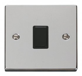 Click Deco Polished Chrome 20A Double Pole Switch VPCH622BK