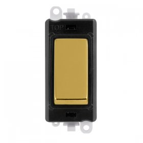 Click Grid Pro GM2004BKBR Retractive Switch Mod Black Pol/Brass