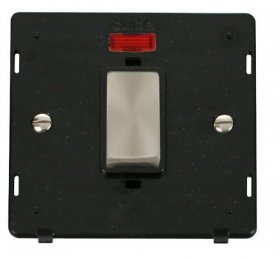 Click Definity 45A DP Switch With Neon Insert SIN501BKBS