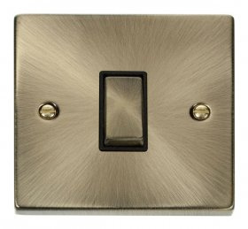 Click Deco Antique Brass 1 Gang 2 Way Switch VPAB411BK