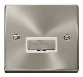 Click Deco Satin Chrome Ingot Unswitched Fused Spur VPSC750WH
