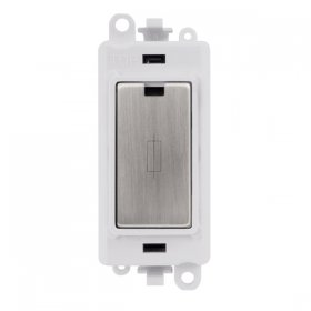 Click Grid Pro GM2047PWSS 13A Fused Module White Stainless Steel