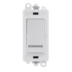 Click Grid Pro GM2018PW-MW Double Pole Switch Mod Wh Microwave