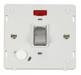 Click Definity 20A DP Switch With F/O Neon Insert SIN523PWCH