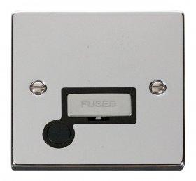 Click Deco Polished Chrome Unswitched Fused Spur + F/O VPCH550BK