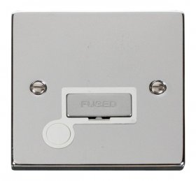 Click Deco Polished Chrome Unswitched Fused Spur + F/O VPCH550WH