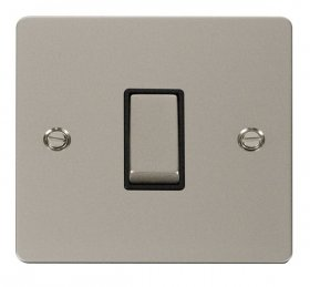 Click Define Pearl Nickel 1 Gang 2 Way Switch FPPN411BK