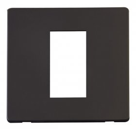 Click Definity Single Media Plate 1G Cover Plate SCP310BK