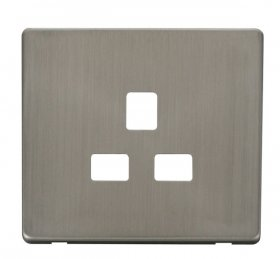 Click Definity 13A 1 Gang Socket Outlet Cover Plate SCP430SS