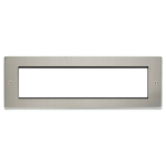 Click New Media Stainless Steel 8 Module Front Plate MP608SS