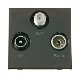 Click New Media MM430BK Triplexed TV, Radio & Sat Module Black