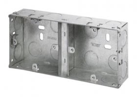 1+1 35mm Deep Dual Galvanised Knock Out Box