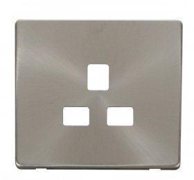 Click Definity 13A 1 Gang Socket Outlet Cover Plate SCP430BS